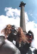 Rubber Mermaids in Trafalgar Square